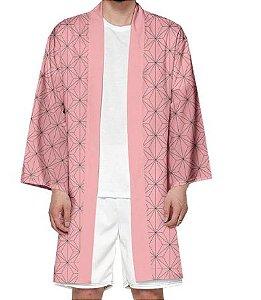 Kimono Nezuko Kamado Demon Slayer Kimetsu No Yaiba - Adulto