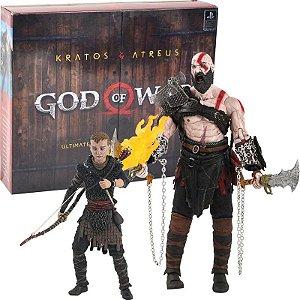 Action Figure Pack Kratos e Atreus God Of War Ps4 - Games Geek