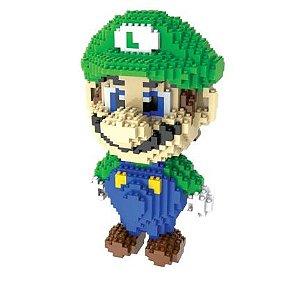 Luigi Super Mario Bros  1750 peças 20 Cm - Blocos de Montar