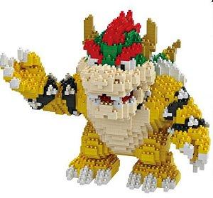 Bowser Super Mario Bros  1450 peças 17 Cm - Blocos de Montar