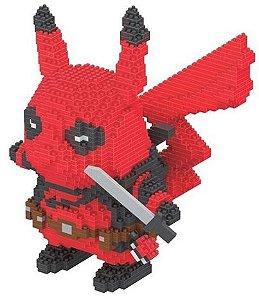 Blocos de Montar Pikachu Versão Deadpool - Pokémon