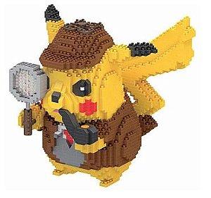 Blocos de Montar Pikachu Detetive Versão II - Pokémon