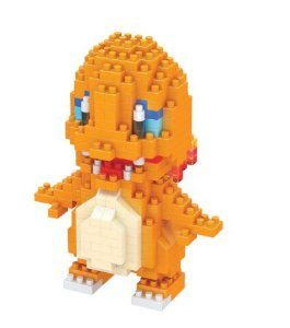 Mini Blocos de Montar Pokémon 10 Cm  -  Charmander