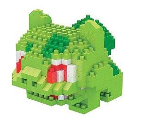 Mini Blocos de Montar Pokémon 6 Cm  -  Bulbasaur