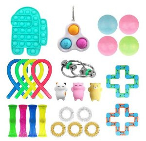 Kit com 25 peças Push Pop Bubble Sensory Fidget Toy Anti Stress - Alta qualidade