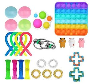 Kit com 25 peças Push Pop Bubble Sensory Fidget Toy Anti Stress I - Alta qualidade