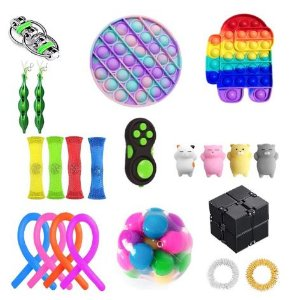 Kit com 22 peças Push Pop Bubble Sensory Fidget Toy Anti Stress I  - Alta qualidade