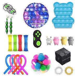 Kit com 22 peças Push Pop Bubble Sensory Fidget Toy Anti Stress II  - Alta qualidade