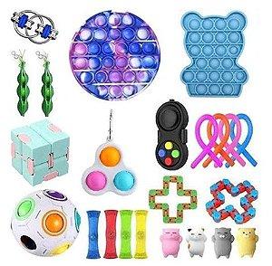 Kit com 23 peças Push Pop Bubble Sensory Fidget Toy Anti Stress - Alta qualidade