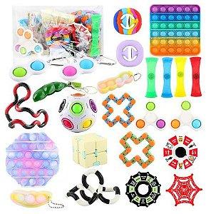 Kit com 24 peças Push Pop Bubble Sensory Fidget Toy Anti Stress I - Alta qualidade