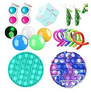 Kit com 17 peças Push Pop Bubble Sensory Fidget Toy Anti Stress  - Alta qualidade