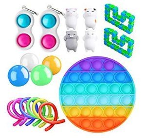 Kit com 19 peças Push Pop Bubble Sensory Fidget Toy Anti Stress  - Alta qualidade
