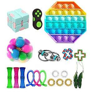 Kit com 20 peças Push Pop Bubble Sensory Fidget Toy Anti Stress II - Alta qualidade
