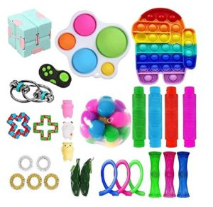 Kit com 28 peças Push Pop Bubble Sensory Fidget Toy Anti Stress - Alta qualidade