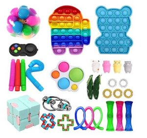 Kit com 30 peças Push Pop Bubble Sensory Fidget Toy Anti Stress II - Alta qualidade