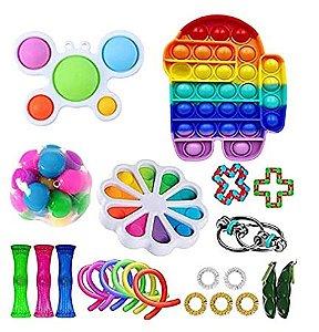 Kit com 23 peças Push Pop Bubble Sensory Fidget Toy Anti Stress III - Alta qualidade