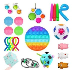 Kit com 23 peças Push Pop Bubble Sensory Fidget Toy Anti Stress IV - Alta qualidade