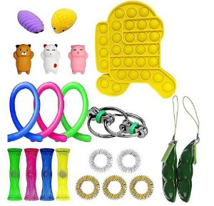 Kit com 22 peças Push Pop Bubble Sensory Fidget Toy Anti Stress VIII - Alta qualidade