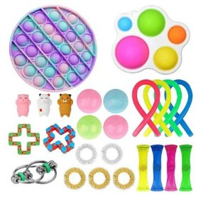 Kit com 25 peças Push Pop Bubble Sensory Fidget Toy Anti Stress II - Alta qualidade