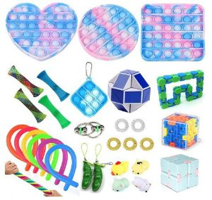 Kit com 31 peças Push Pop Bubble Sensory Fidget Toy Anti Stress - Alta qualidade