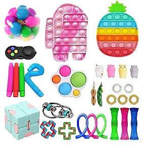 Kit com 30 peças Push Pop Bubble Sensory Fidget Toy Anti Stress X - Alta qualidade