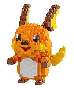 Mini Blocos de Montar Pokémon 10 Cm  -  Raichu