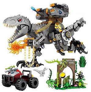 Dinosaur Park 560 peças + 4 Personagens - Blocos de Montar