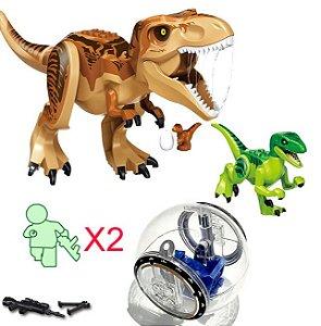 Kit Jurassic Park Blocos de Montar Modelo 2 - Cinema Geek