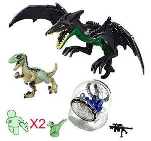 Kit Jurassic Park Blocos de Montar Modelo 3 - Cinema Geek