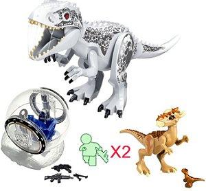 Kit Jurassic Park Blocos de Montar Modelo 4 - Cinema Geek