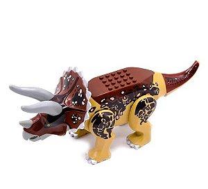 Triceratops 24 Cm de Comprimento Jurassic Park - Blocos de Montar