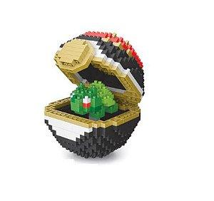 Blocos de Montar Bulbasaur + pokébola Luxury Ball 441 peças - Pokémon