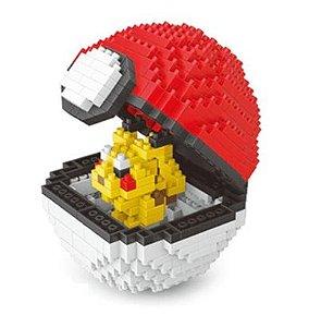 Blocos de Montar Pikachu + pokébola 397 peças - Pokémon