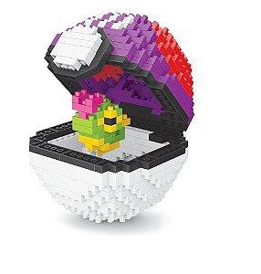 Blocos de Montar Caterpie + pokébola Masterball 458 peças - Pokémon