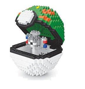 Blocos de Montar Magnemite + pokébola Friendball 427 peças - Pokémon