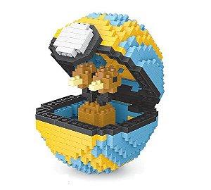 Blocos de Montar Doduo + pokébola QuickBall 468 peças - Pokémon