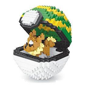 Blocos de Montar Eevee+ pokébola Nestball 450 peças - Pokémon