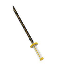 Katana Espada Zenitsu Agatsuma demon Slayer 392 Peças Kimetsu no Yaiba - Blocos de Montar