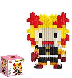 Mini Blocks MQFun Demon Slayer Kyojuro Rengoku + 254 peças 8,2Cm x 6,2Cm - Kimetsu No Yaiba
