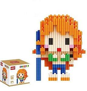 Mini Blocks MQFun One Piece Nami + 282 peças 8,1Cm x 6,6Cm - Animes Geek