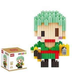 Mini Blocks MQFun One Piece Roronoa Zoro + 263 peças 8,2Cm x 5,6Cm - Animes Geek