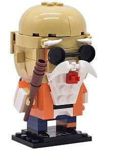 Brickheadz Mestre Kame + 146 peças Dragon Ball - Blocos de montar 10Cm x 6Cm x 6Cm