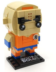 Brickheadz Kuririn + 114 peças Dragon Ball - Blocos de montar 8,5Cm x 5Cm x 5,5Cm