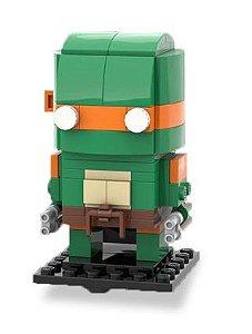 Brickheadz Michelangelo +95 peças TMNT - Blocos de montar 12Cm x 5Cm x 5Cm