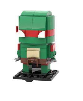 Brickheadz Raphael +95 peças TMNT - Blocos de montar 12Cm x 5Cm x 5Cm