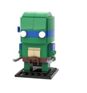 Brickheadz Leonardo +95 peças TMNT - Blocos de montar 12Cm x 5Cm x 5Cm
