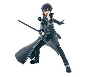 Boneco Articulado Kirito Kirigaya Action Figure - Sword Art Online