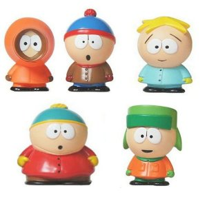 Kit 05 Personagens South Park - Série 1 - 10Cm - Animes Geek