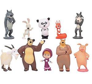 Pack 10 figures Masha e o Urso - Animes Geek