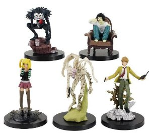 Pack 05 Action Figures Death Note - Animes Geek